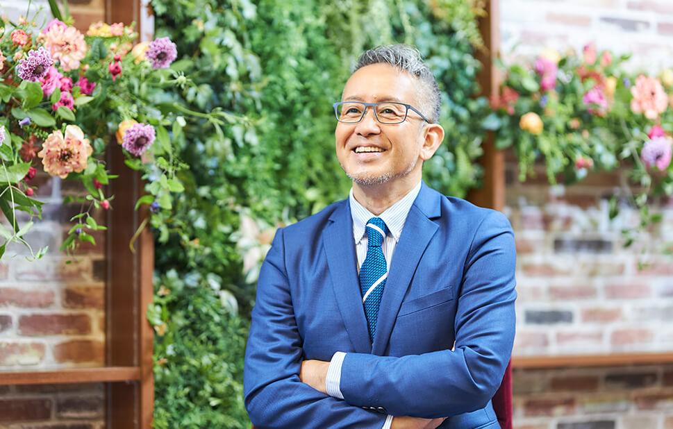 日比谷花壇で語る、宮本亞門さん